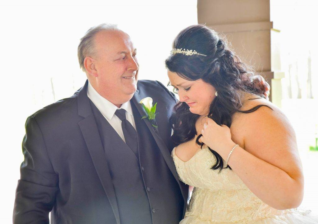 Father and daughter's first look photo